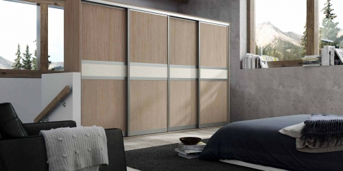 SLIDE-ROBE-DESIGN-C-ALUMINIUM-PROFILE-SONOMA-OAK-LIGHT-BEIGE-GLASS